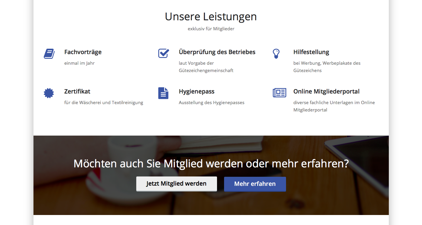 Screenshot der neuen Website